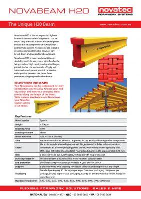 NovaBeam H20 Fact Sheet